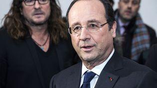 Francois Hollande le 6 février 2014 au siège du site vente-privee.com, à La Plaine Saint-Denis (Seine-Saint-Denis). (ETIENNE LAURENT / AFP)