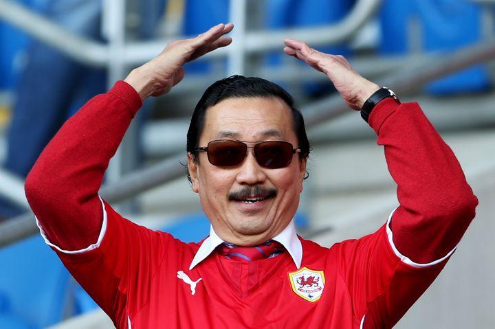 Le milliardaire malaisien Vincent Tan avant un match de son équipe de Cardiff, le 8 mars 2014. (SCOTT HEAVEY / GETTY IMAGES EUROPE)