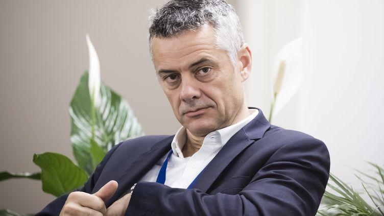 Frédéric Duval, directeur général d'Amazon France, le 22 octobre 2019 à Brétigny dans l'Essonne. (VINCENT ISORE / MAXPPP)