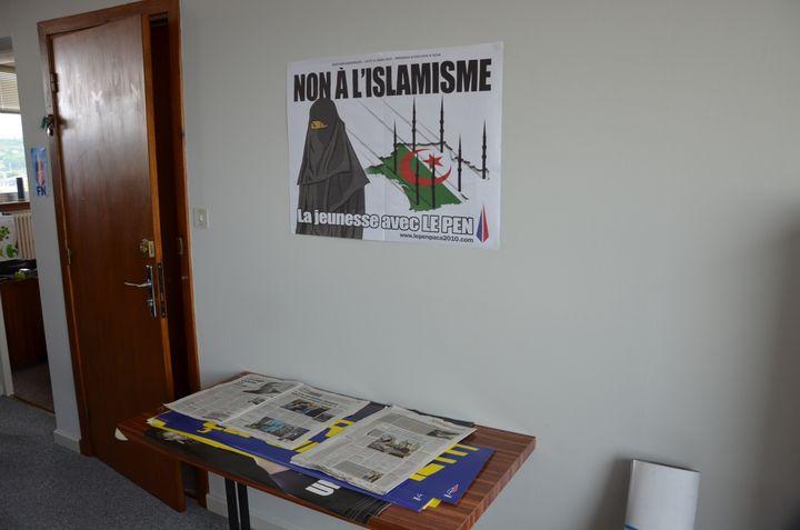 Le nouveau local du Front national à Agen(Lot-et-Garonne), le 3 mai 2013. (THOMAS BAIETTO / FRANCETV INFO)