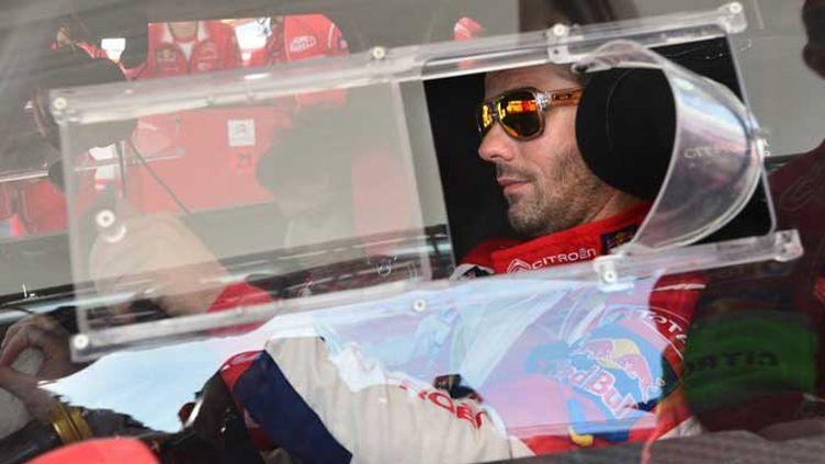 Sébastien Loeb (Citroën) et sa garde rapprochée