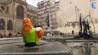 Jef Aérosol signe une fresque monumentale au coeur de Paris  (Culturebox)
