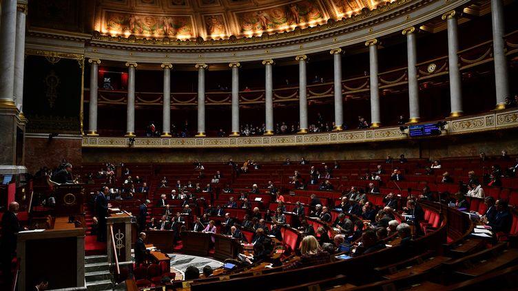 Les députés réunis le 17 février 2020 à l'Assemblée nationale pourdébattre du projet de réforme des retraites. (CHRISTOPHE ARCHAMBAULT / AFP)