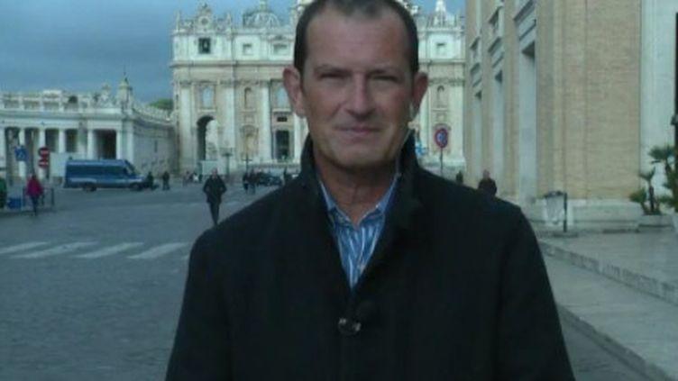 Le pape François doit recevoir lundi 18 mars au Vatican le cardinal Philippe Barbarin, qui souhaite lui présenter sa démission. (FRANCE 2)
