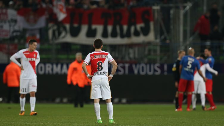 Joao Moutinho, le milieu de terrain de l'AS Monaco. (CHARLY TRIBALLEAU / AFP)