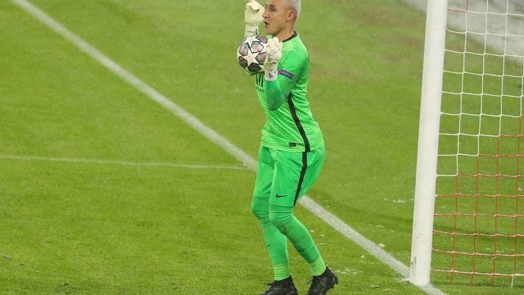 Keylor Navas a encore brillé face au Bayern Munich, mercredi 7 avril. (MARCEL ENGELBRECHT / FIRO SPORTPHOTO)