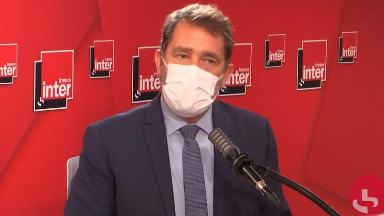 Christophe Castaner, ancien ministre de l'Intérieur, président du groupe LREM à l'Assemblée Nationale et député des Alpes-de-Haute-Provence, le 9 juin 2021 sur France Inter. (FRANCEINTER / RADIO FRANCE)