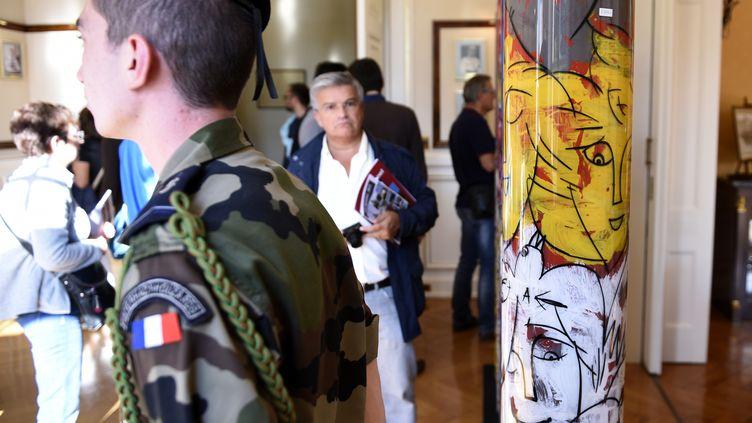L'exposition de Paul Flickinger, ouverte pour lesjournées du patrimoine à Metz (Moselle), le 17 septembre 2016. (JEAN-CHRISTOPHE VERHAEGEN / AFP)