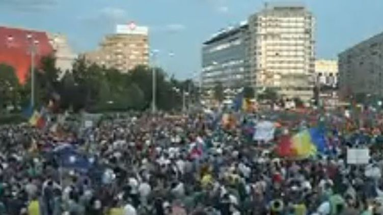 Manifestation en Roumanie (France 2)