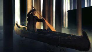 """Répétition """"Kanata"""", Robert Lepage  (Michèle Laurent)"""