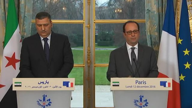 François Hollande reçoit l'opposition syrienne