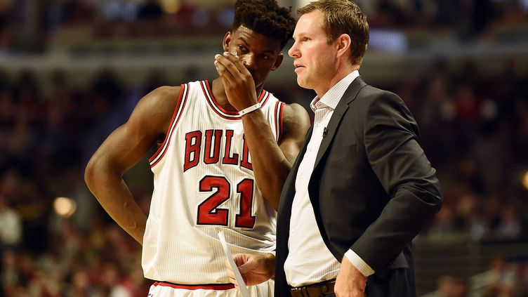 Jimmy Butler, le joueur des Chicago Bulls (STACY REVERE / GETTY IMAGES NORTH AMERICA)