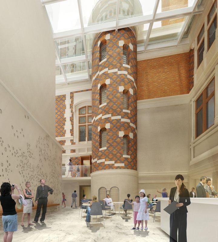 Projet architectural au sein de l'Hôtel Gaillard.  (Citéco.)