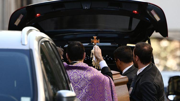 Les obsèques de Charles Aznavour, à l'église arménienne Saint-Jean-Baptiste de Paris, le 6 octobre 2018. (PHILIPPE LOPEZ / AFP)