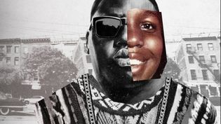 "Le visuel du documentaire de Netflix sur le rappeur américain Notorious B.I.G. : ""Biggie : I got a story to tell"". (NETFLIX)"