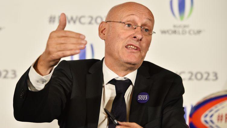 Bernard Laporte, président de la FFR. (GLYN KIRK / AFP)