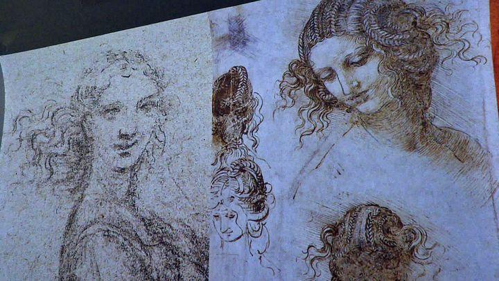 Dessins deLéonard de Vinci présentés dans exposition immersive au Château du Clos Lucé d'Amboise (France 3 Centre)