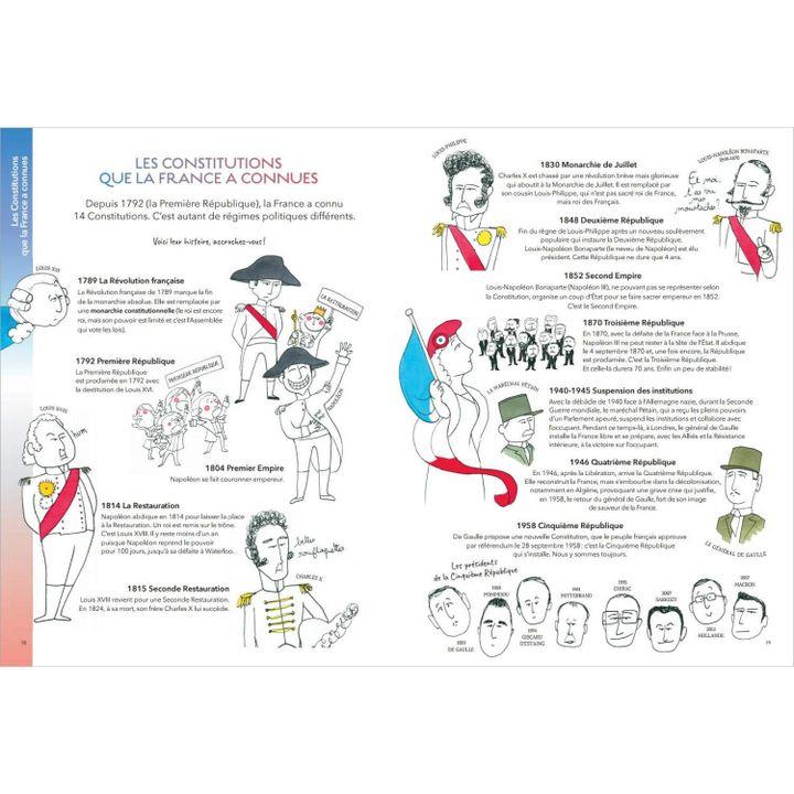 """Pages intérieures du livre """"Leur République"""", de François Hollande (2020) (Glénat)"""