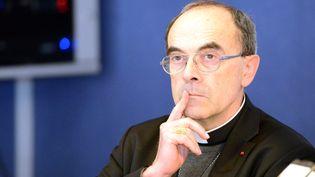 Le cardinal Philippe Barbarin, le 15 mars 2016, à Lourdes (Hautes-Pyrénées). (DDM - RACHEL BARRANCO / MAXPPP)