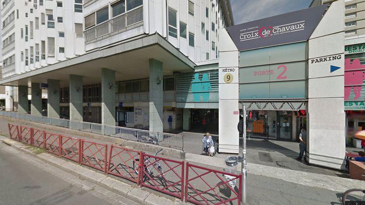 (La station de métro Croix-de-Chavaux, à Montreuil. Une caméra de la RATP y a filmé Abaaoud à 22h14, vendredi 13 novembre. © Google Street View)