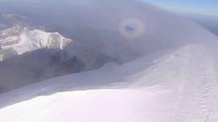 Le Mont-Blanc a perdu plus d'un mètre en quatre ans selon les derniers relevés dévoilés par les scientifiques, mercredi 29 septembre. (FRANCE 2)
