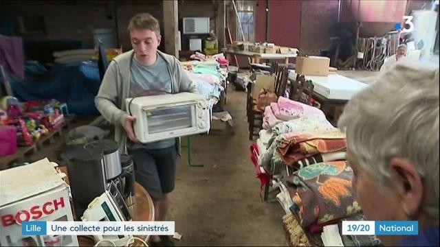 Lille : une collecte pour les sinistrés
