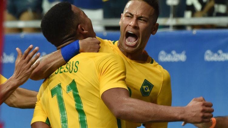La joie du capitaine brésilien Neymar (NELSON ALMEIDA / AFP)