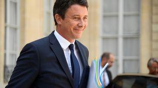 Le porte-parole du gouvernement Benjamin Griveaux quitte l'Elysée, à Paris, le 22 août 2018. (BERTRAND GUAY / AFP)