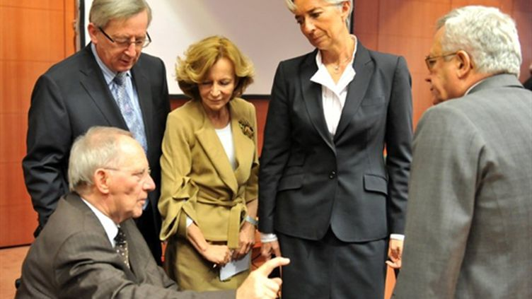 Ministres des finances de l'Euroland (21 mars 2011) (AFP/GEORGES GOBET)