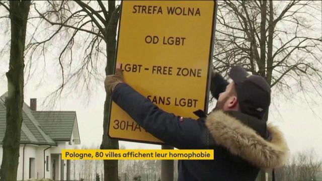 Pologne : un activiste LGBT affiche l'homophobie sur des pancartes