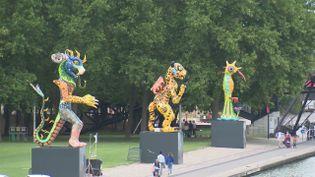Plaine d'Artistes jusqu'au 2 août 2020 à La Villette à Paris. (CAPTURE D'ÉCRAN FRANCE 3)