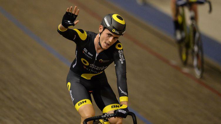 Thomas Boudat, champion de France de la course aux points pour la troisième fois.