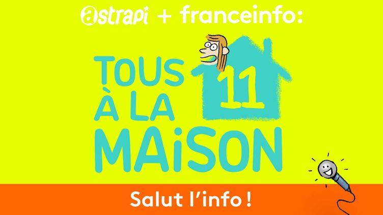 """Nouvel épisode denotre émission spéciale """"Tous à la maison"""" du podcast Salut l'info !, à retrouver du lundi au vendredi sur la radio franceinfo à 15h21, 19h51 et 22h51. (ASTRAPI / BAYARD PRESSE)"""