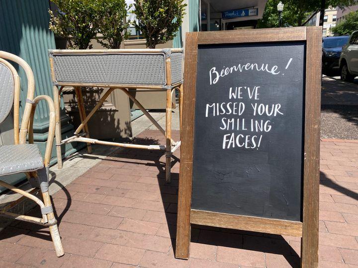 À Savannah,restaurants, coiffeurs fonctionnent à nouveau depuis deux semaines. (GRÉGORY PHILIPPS / RADIO FRANCE)