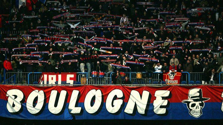 Le KOP de Boulogne lors du match PSG/Bastia, le 18 mars 2008. (GETTY IMAGES)