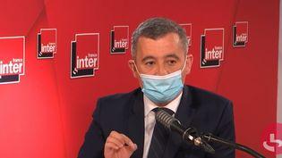 Gérald Darmanin, le ministre de l'Intérieur sur France Inter le 28 avril 2021. (FRANCEINTER / RADIOFRANCE)