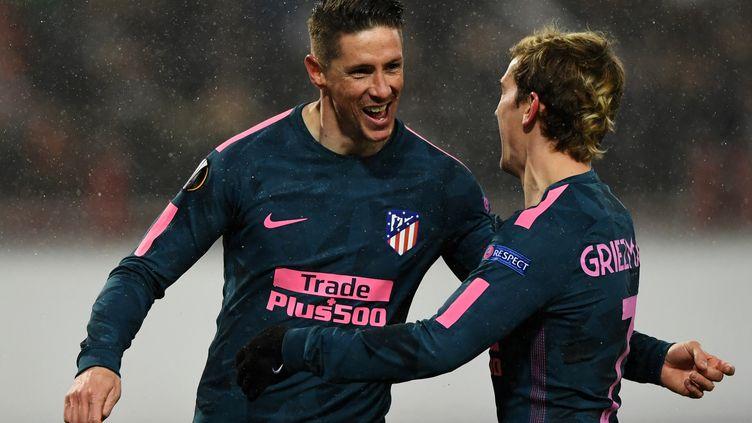 Fernando Torres et Antoine Griezmann (KIRILL KUDRYAVTSEV / AFP)