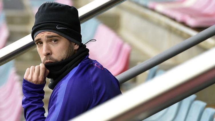Le défenseur espagnol du FC Barcelone, Jordi Alba