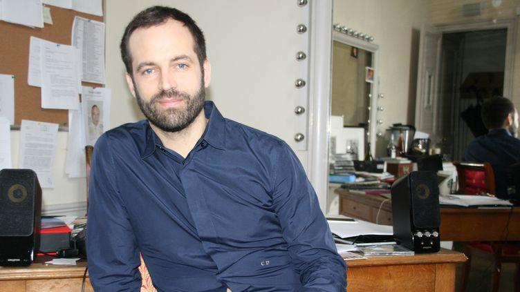 Benjamin Millepied dans son bureau à l'Opéra Garnier, le 27 janvier 2015  (Sophie Jouve/Culturebox)
