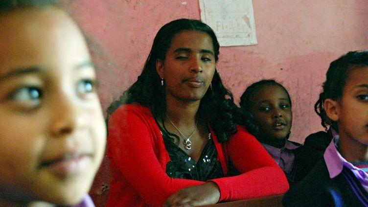 Aveugle à l'âge de 5 ans, elle se bat pour l'intégration des handicapés. (AARON MAASCHO / AFP)