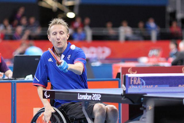 Stéphane Molliens lors des Jeux paralympiques à Londres, le 31 août 2016. (CPSF 2016 / ITTFWORLD)