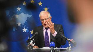 Le chef de la diplomatie européenne,Josep Borrell, le 20 septembre 2021, à New York. (ANGELA WEISS / AFP)