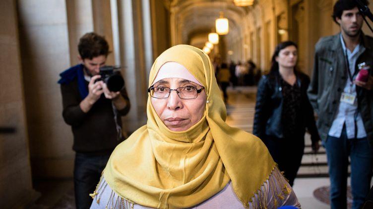 La mère de la fratrie Merah, Zoulikha Aziri,au palais de justice de Paris, le 18 octobre 2017. (MAXPPP)