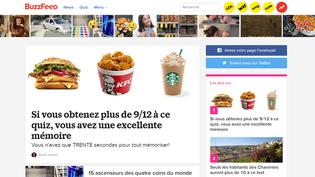 Capture d'écran de la page d'accueil de la version française de Buzzfeed, le 7 juin 2018. (BUZZFEED)