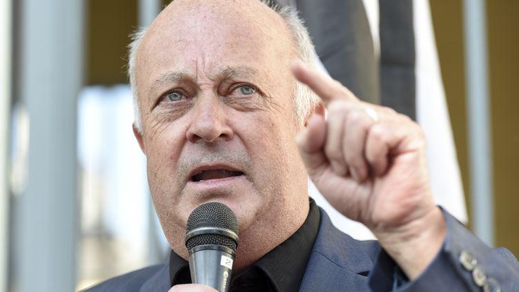 Le maire de Langouët, Daniel Cueff, le 22 août 2019. (SEBASTIEN SALOM-GOMIS / AFP)
