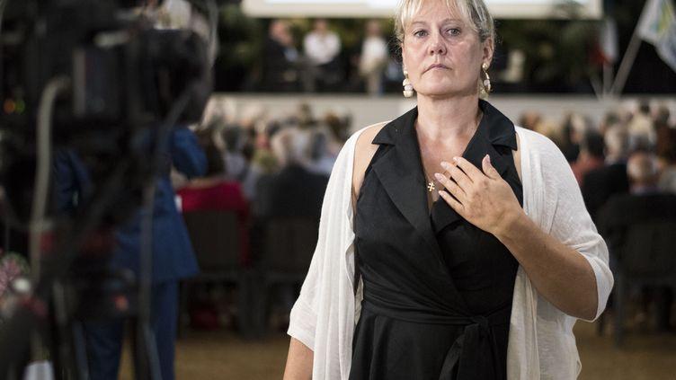 La députée européenne Nadine Morano lors des universités d'été des Républicains, à La Baule (Loire-Atlantique), le 1er septembre 2018. (SEBASTIEN SALOM GOMIS / AFP)