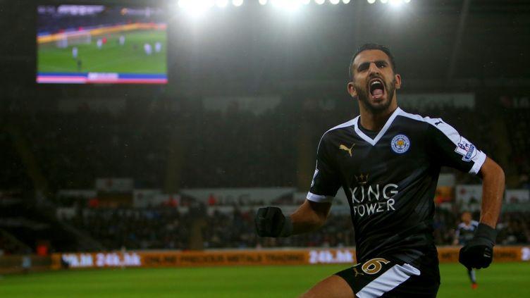 Riyad Mahrez, l'homme du jour pour Leicester (GEOFF CADDICK / AFP)