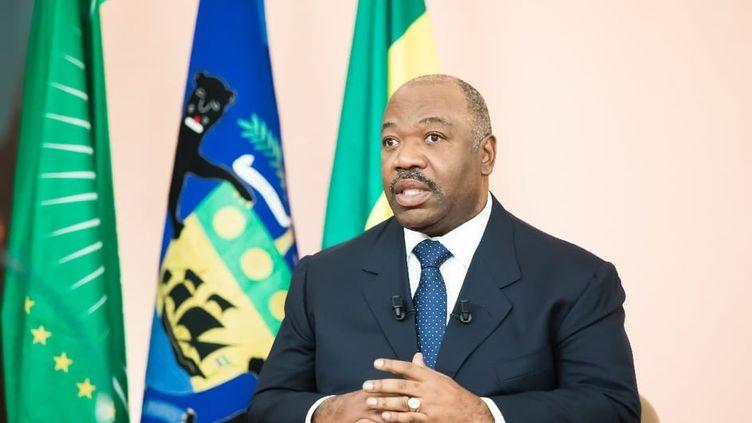 Le président gabonais, Ali Bongo, présente son message de nouvel An à ses compatriotes le 31 décembre 2018 depuis Rabat au Maroc (Capture d'écran/Vidéo présidence gabonaise)