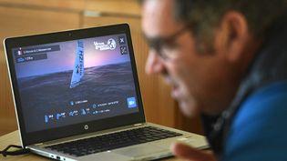 La voile virtuelle, qui a séduit beaucoup de monde lors du dernier Vendée Globe, fera partie de cette première compétition olympique. (FRED TANNEAU / AFP)