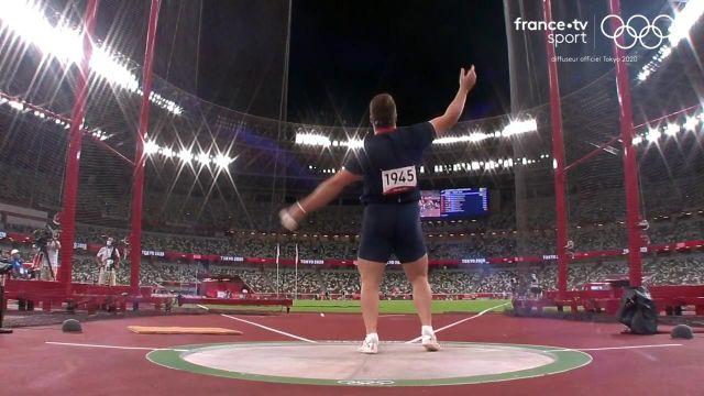 Quentin Bigot manque la médaille, 5e de la finale du marteau avec un lancer à 79.39 m.